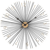 Artistic Home & Lighting Shockfront Black And Gold 36-Inch Metal Wall Clock