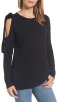 Halogen Petite Women's Velvet Bow Sweater