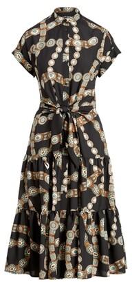 Lauren Ralph Lauren Ralph Lauren Belt-Print Crepe Shirtdress