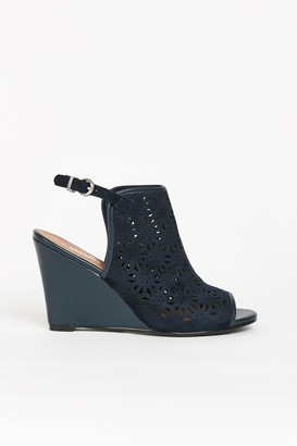 Wallis **Navy Cut Out Wedge