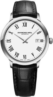 Raymond Weil Toccata Stainless Steel Leather-Strap Watch
