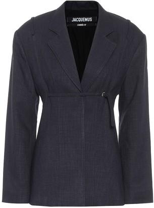 Jacquemus La Veste Sauge linen-blend blazer