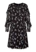 Hallhuber Ruffle Dress With Panicles Print