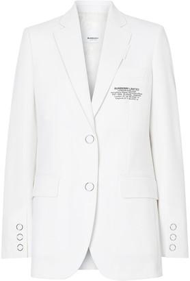 Burberry Location Print blazer