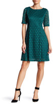 Eliza J Lace Fit & Flare Dress (Petite)