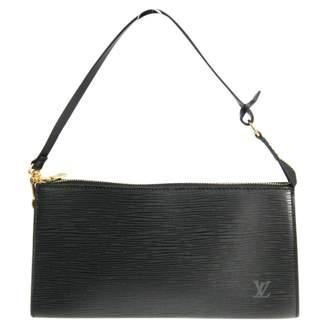 Louis Vuitton Pochette Accessoire Black Leather Clutch bags