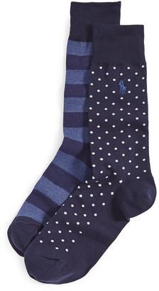 Polo Ralph Lauren Dot Rugby Stripe Slack Socks