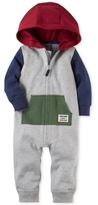 Carter's Hooded Colorblocked Cotton Coverall, Baby Boys (0-24 months)