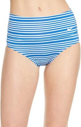 Nike Swim Sport Mesh High Waist Bikini Bottoms