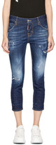 DSQUARED2 Indigo Cool Girl Crop Jeans