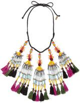 Etro Beaded Tassel Necklace - Black