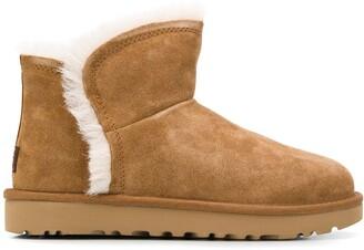UGG mini fluff slip-on boots