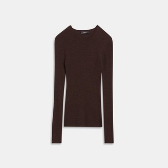 Theory Regal Wool Ribbed Crewneck Sweater