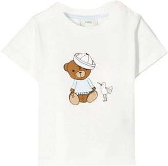 Fendi White T-shirt With Frontal Press