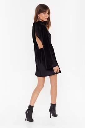 Nasty Gal Womens We Bite Back Velvet Mini Dress - black - 6