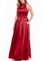 Eliza J Bow Neck Ball Gown