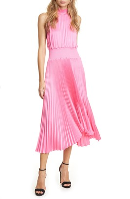A.L.C. Renzo Pleated Sleeveless Midi Dress