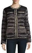 Karl Lagerfeld Zip-Front Puffer Coat