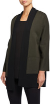Eileen Fisher Colorblock Merino Wool Cardigan