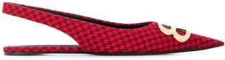 Balenciaga BB motif slingback ballerina shoes