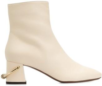 L'Autre Chose Ring Heel Ankle Boots