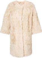 Liska button up fur coat