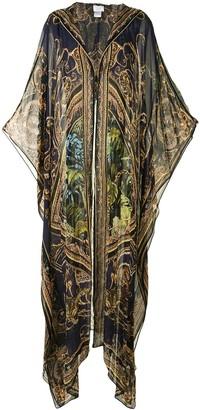 Camilla Baroque-Print Oversized Robe