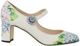 Dolce & Gabbana Ecru Leather Heels