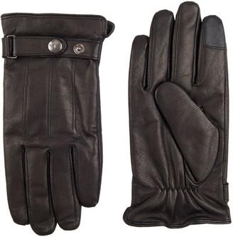 Dockers Men's Snap Strap Leather Glove
