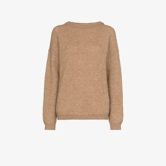 Acne Studios Light Brown Oversized Knit Sweater