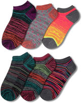Asstd National Brand 6Pk No Show Socks