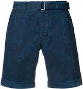 Officine Generale pineapple print denim shorts - men - Cotton - 32