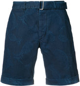 Officine Generale pineapple print denim shorts - men - Cotton - 33