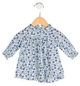 Petit Bateau Girls' Floral Print Long Sleeve Dress