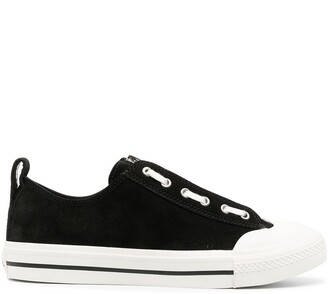 Diesel Suede And Leather Low-Top Sneakers