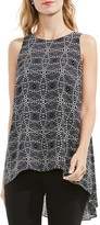 Vince Camuto Geometric Print Top