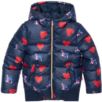 Billieblush Heart Printed Nylon Puffer Jacket