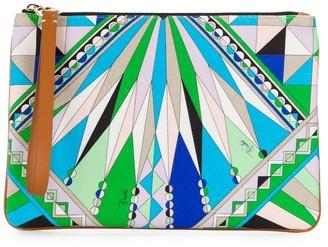 Emilio Pucci Bes print clutch