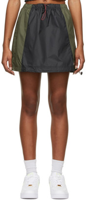Nike Black and Khaki Icon Clash Sportswear Miniskirt
