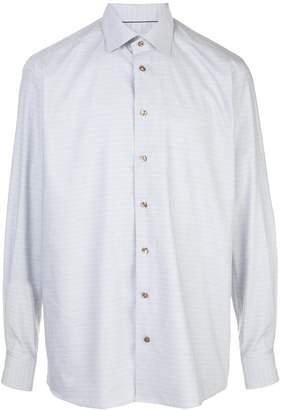 Eton checked twill shirt