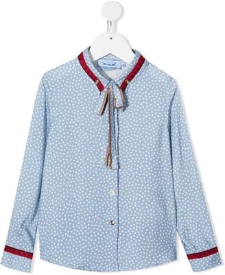 Mi Mi Sol Polka-Dot Long-Sleeve Shirt