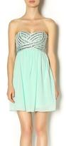 Minuet Mint Sequin Dress
