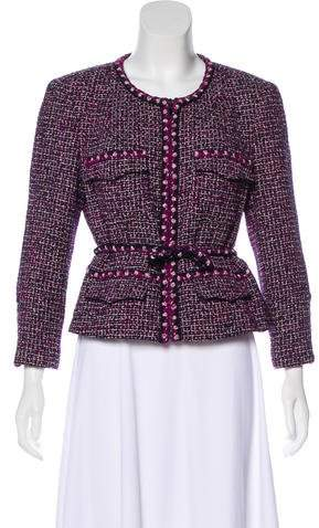 Chanel Tweed Zip-Up Jacket
