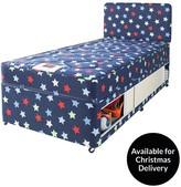 Airsprung Kids Stars And Butterflies Single Storage Divan With FREE Headboard