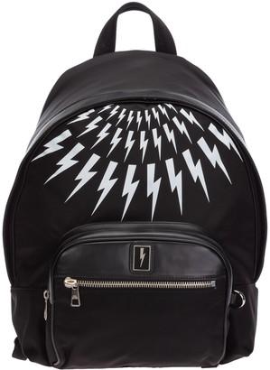 Neil Barrett Lightning Bolt Printed Backpack