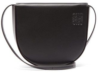 Loewe Heel Medium Leather Pouch - Black