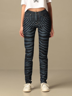 Just Cavalli Jeans In Animalier Denim