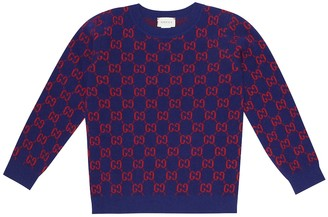 Gucci Kids GG jacquard wool sweater