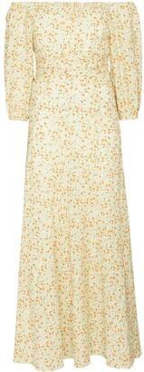 Peony Swimwear Wildflower off-shoulder midi dress