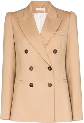 Chloé Double-Breasted Stretch-Wool Blazer